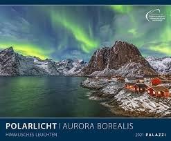 Calendario 2021 aurora borealis new 60x50