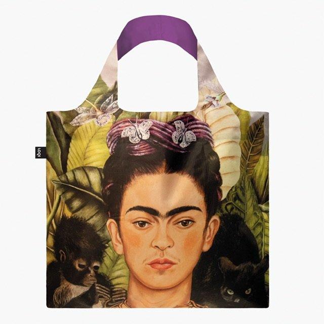 Bolsa plegable frida kahlo recycled