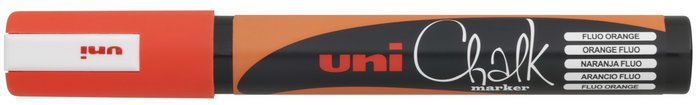 Marcador uni chalk tiza liquida 1,8-2,5mm naranja