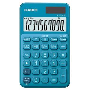 Calculadora casio bolsillo sl310uc azul
