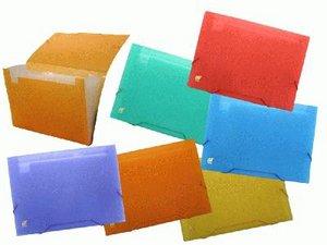 Carpeta fuelle a4 pp 12/b color transparente