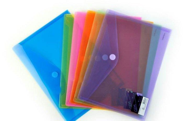 Carpetas formato sobres con velcro violeta databank