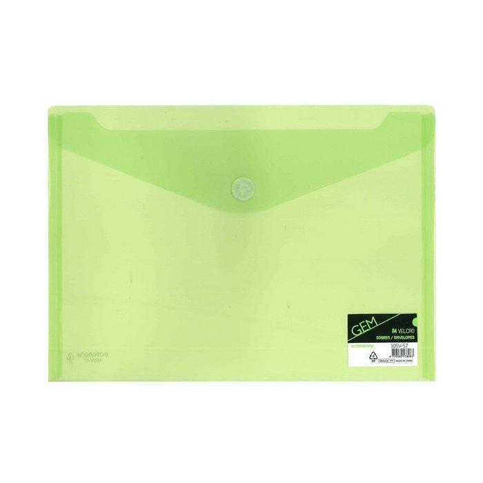Carpetas formato sobres con velcro verde databank