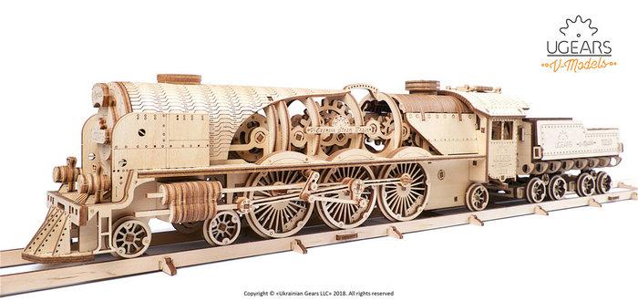 Maqueta model v-express steam train with tender