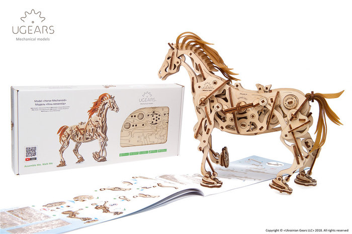 Maqueta moder horse-mechanoid