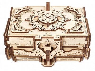 Cofrecito de epoca maqueta mecanica