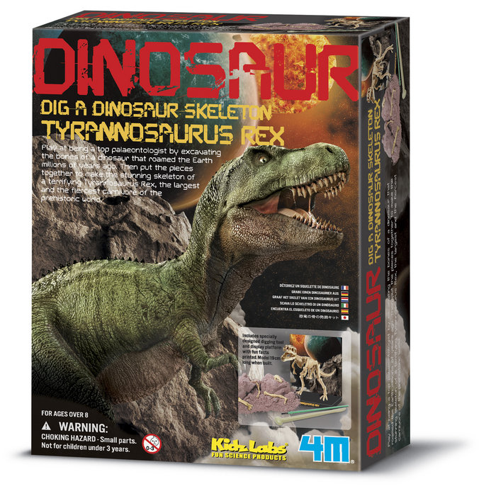 Juego 4m kidz labs dig a tyrannosaurus rex skeleton
