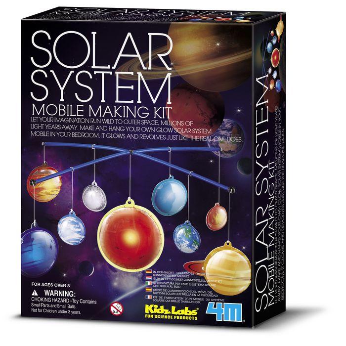Juego 4m kidz labs glow solar system mobile making ki