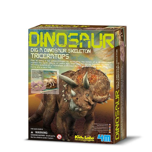 Juego 4m kidz labs dig a triceratops skeleton