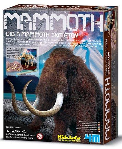 Juego 4m kidzlabs paleontologia esqueleto mamut