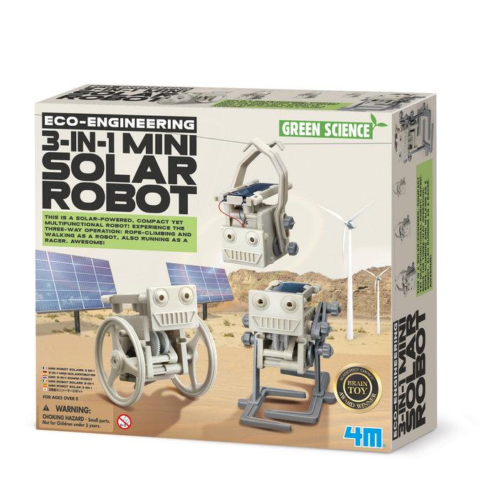 Juego 4m eco engineering 3 in 1 mini solar robot
