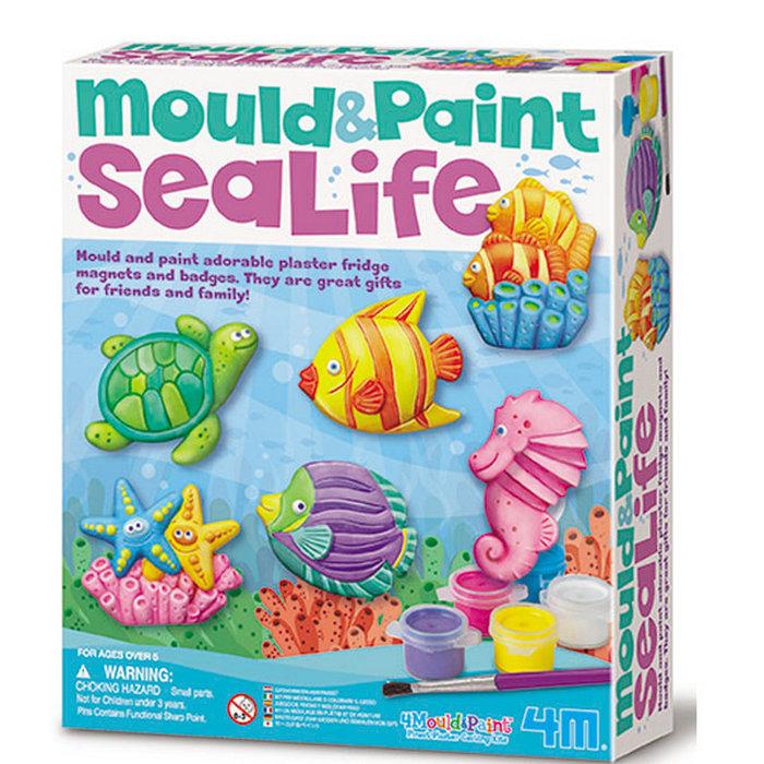Juego 4m moldea y pinta la vida marina
