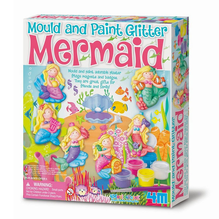 Juego 4m mould & paint glitter mermaid