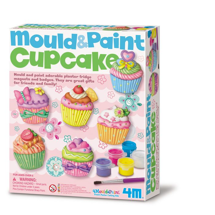Juego 4m mould & paint cup cake