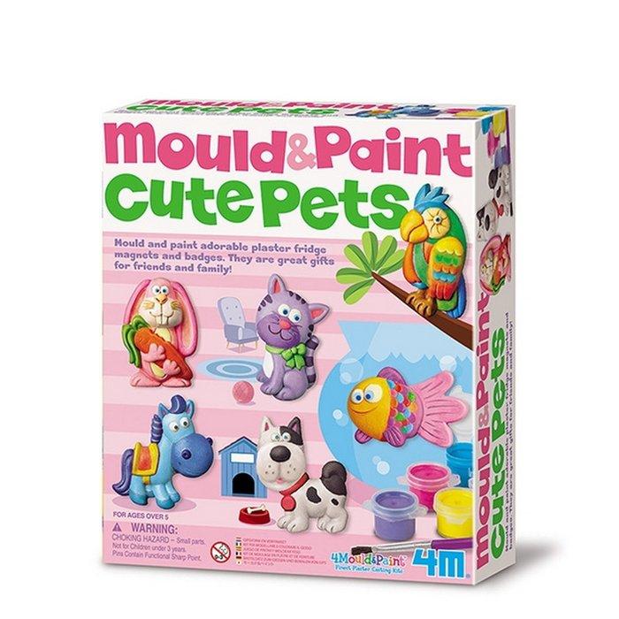 Juego 4m moldea y pinta mascotas