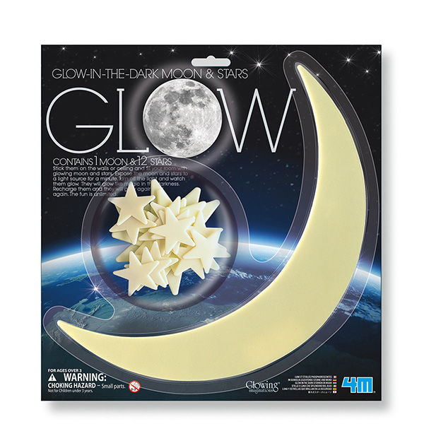 Juego 4m glow moon y star large