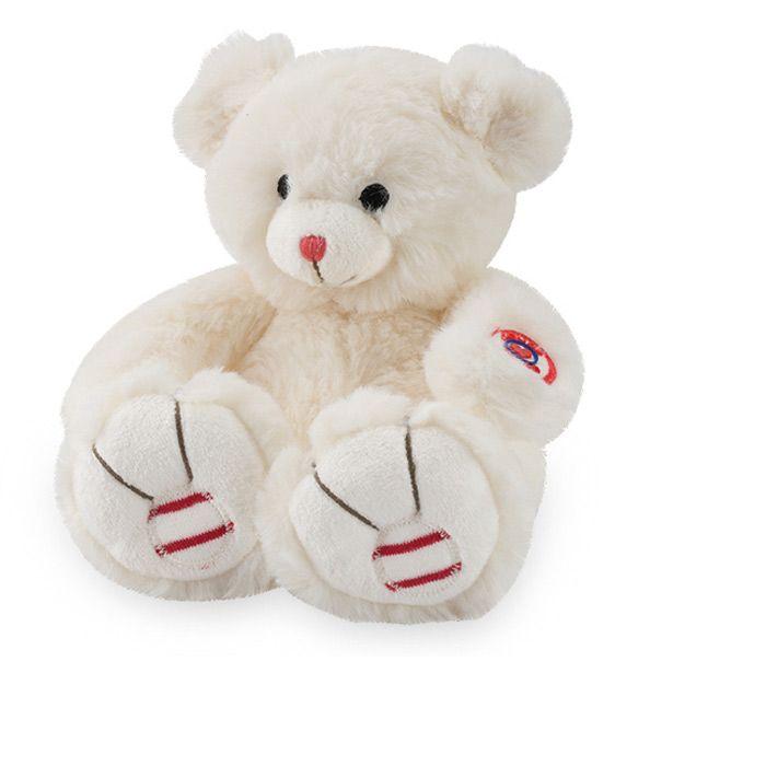 Peluche 19cm rouge pequeño oso blanco