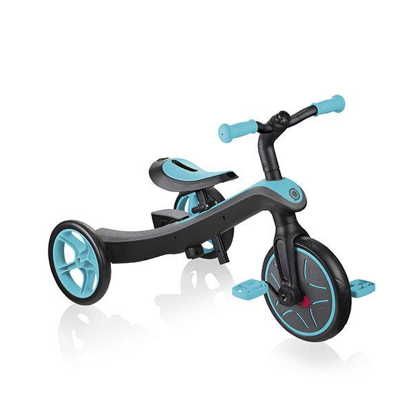 Bicicleta evolutiva trike explorer 2 en 1 verde azulado