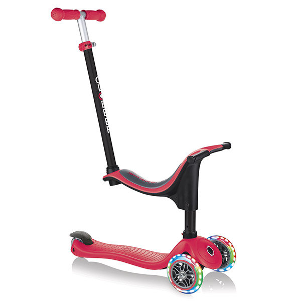Patinete go up 4 in 1 lights rojo