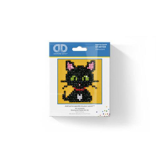 Diamond dotz gatito ojos verdes