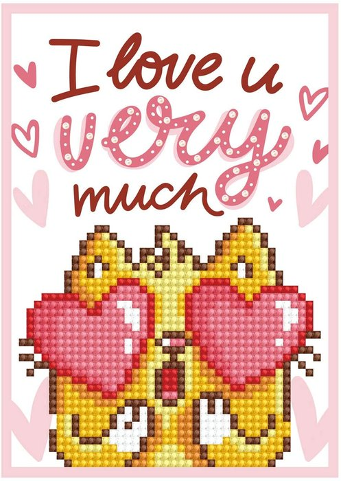 Diamond dotz tarjeta love you