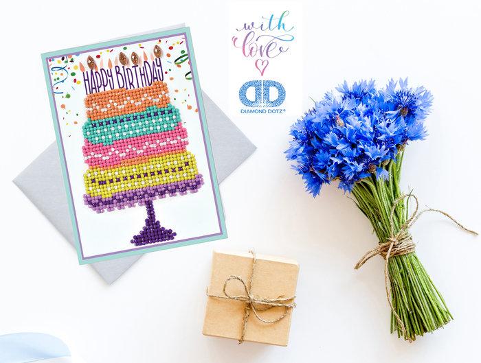 Diamond dotz tarjeta happy birthday