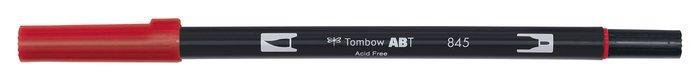 Rotulador tombow dual brush 845  carmine