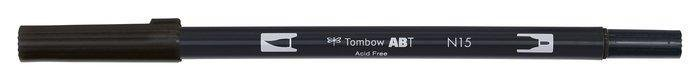 Rotulador tombow dual brush n15  black