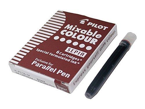Recambio 6 cartuchos parallel pen sepia