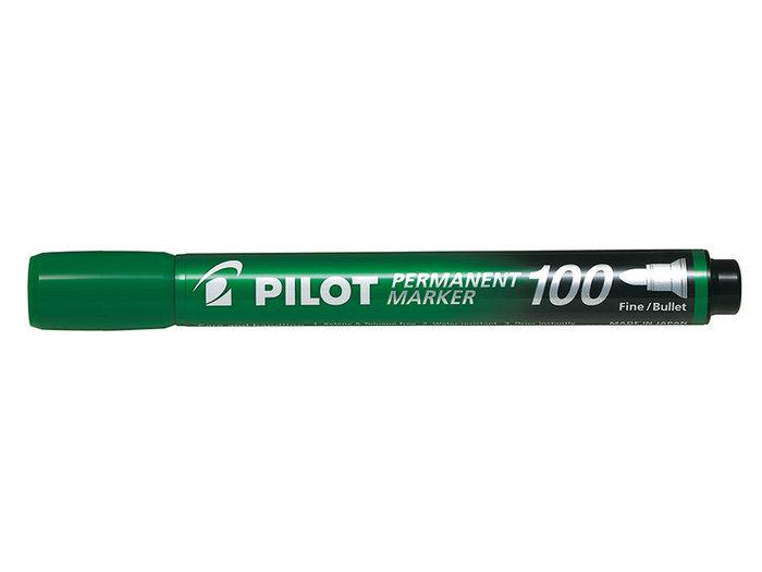Marcador permanente punta conica sca-100 verde
