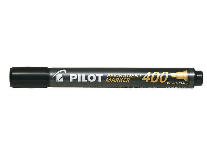 Marcador permanente punta biselada sca-400 negro