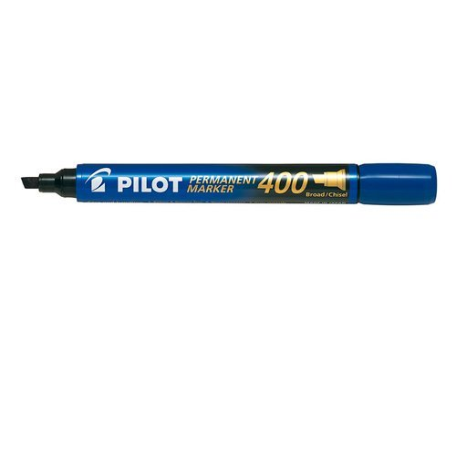 Marcador permanente punta biselada sca-400 azul