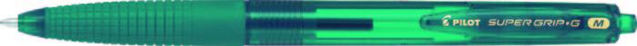 Boligrafo pilot supergrip g neon verde pavo real