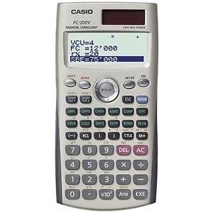 Calculadora casio financiera fc200v blister