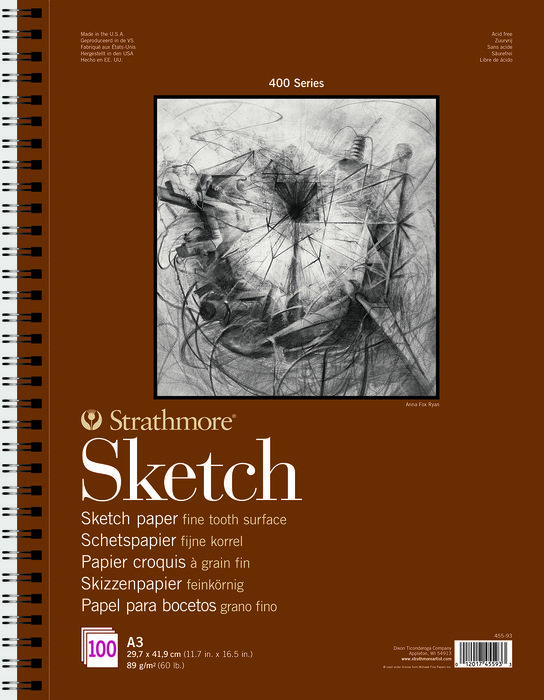 Bloc encolado 21x29,7 100h strathmore sketch (400) 89g blanc