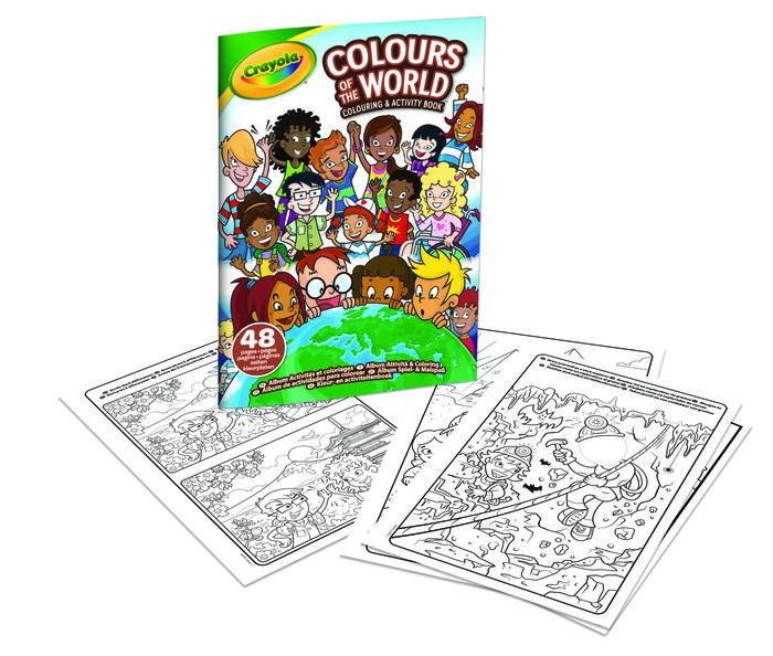Libro para colorear 48 hojas colours of the world