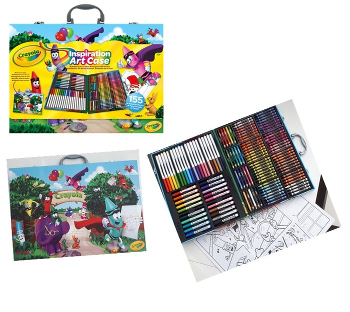 Maletin del artista crayola 155 piezas