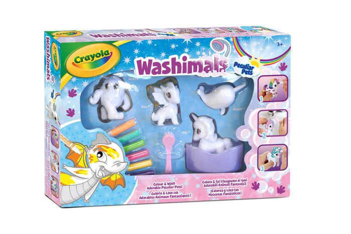 Washimals animalitos fantasticos set 4 figuras