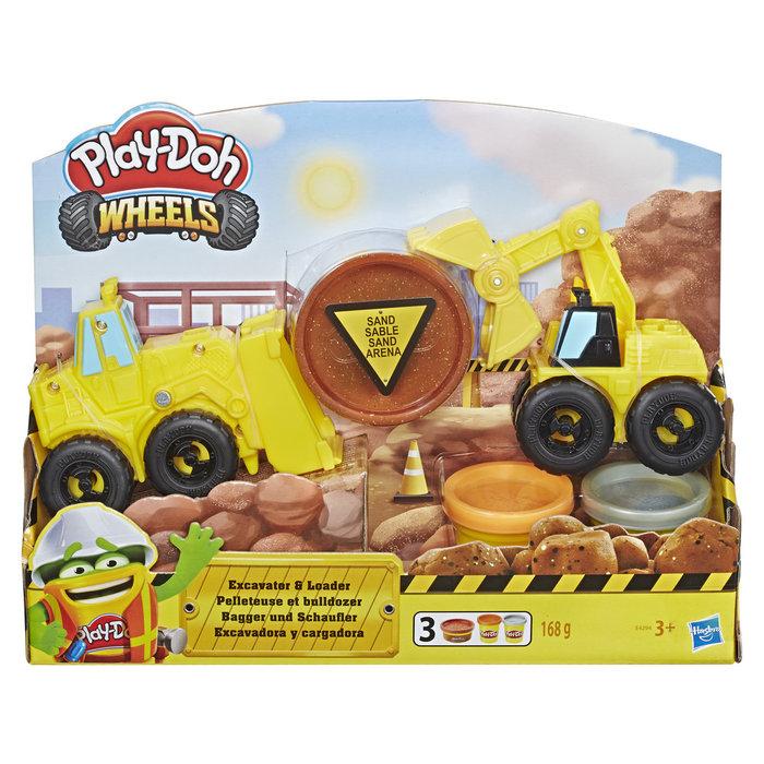 Juego play-doh excavadora y cargadora