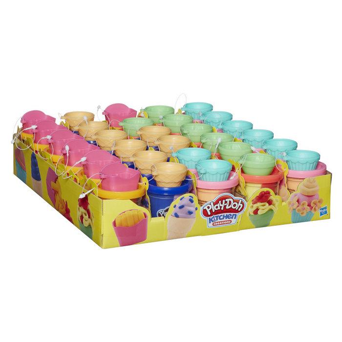 Expositor 30 juegos play-doh heladitos surtidos
