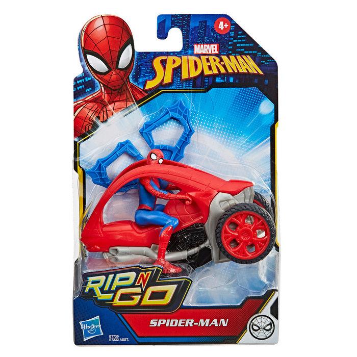 Spiderman figura y vehiculo 15cm
