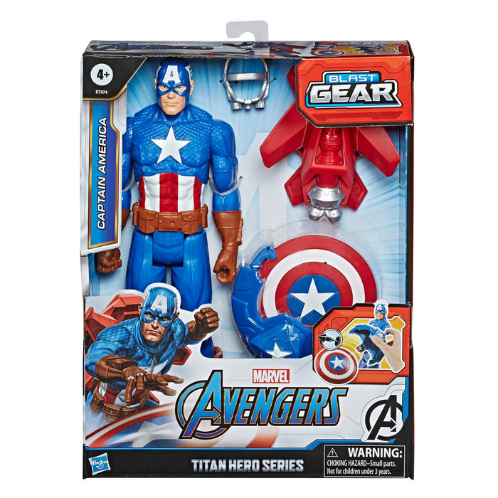 Avengers figura titan con accesorios capitan america