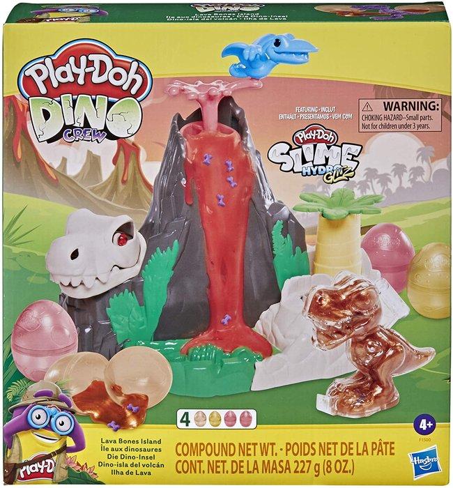 Isla del volcan de lava play-doh