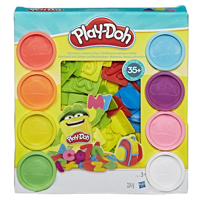 Play-doh numeros y letras divertidas