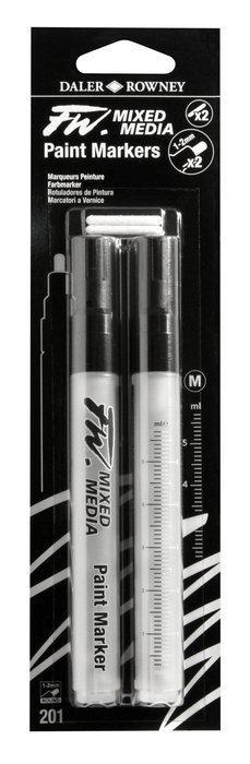 Rotulador fw artist vacios blister 2 puntas redondas 1-3 mm