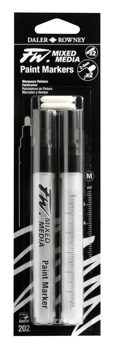 Rotulador fw artist vacios blister 2 puntas redondas 2-4 mm