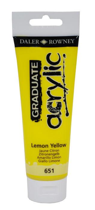 Pintura acrilica graduate 120ml lemon amarillo