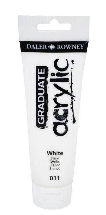Pintura acrilica graduate 120ml blanco
