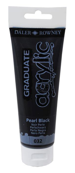 Pintura acrilica graduate 120ml pearl negro