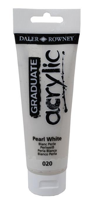 Pintura acrilica graduate 120ml pearl blanco